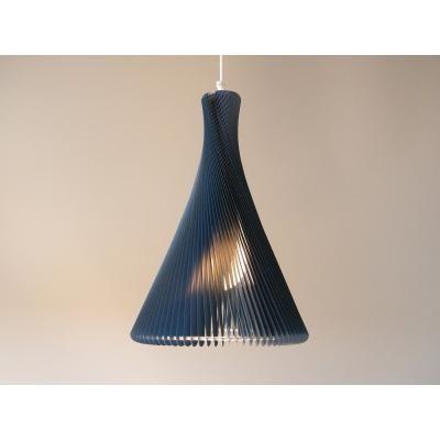 Exkluzív függesztett mennyezeti lámpa, keskeny, kék  - RONDO SLIM
